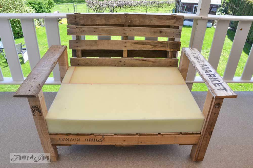 Pallet Wood Patio Chair Build Part Funky Junk Interiorsfunky
