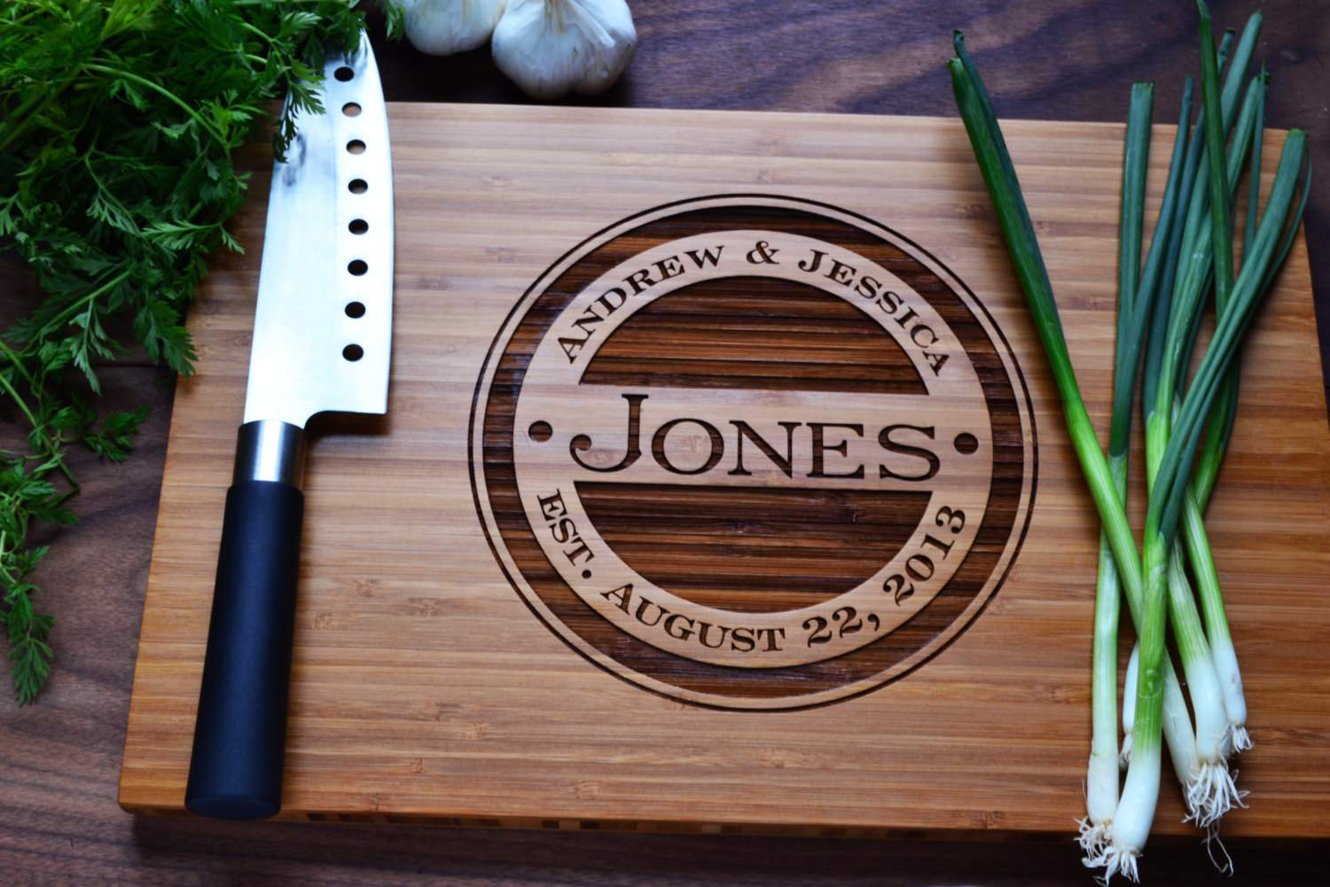 Personalized Cutting Board Engraved Bamboo Twistedbranchdesigns
