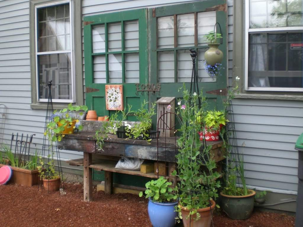 Potting Bench Recycled Doors