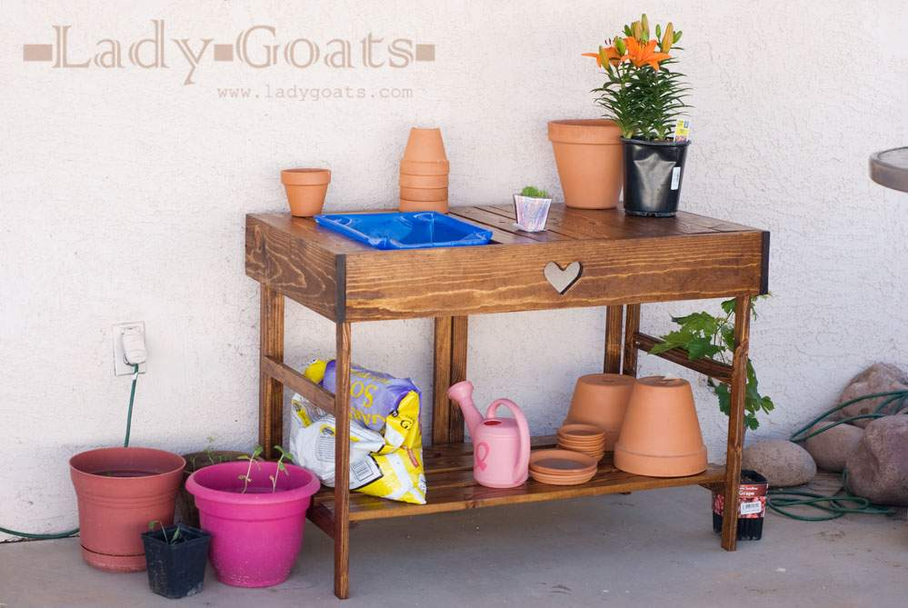 Potting Table Easy Diy Project Furniture Plans