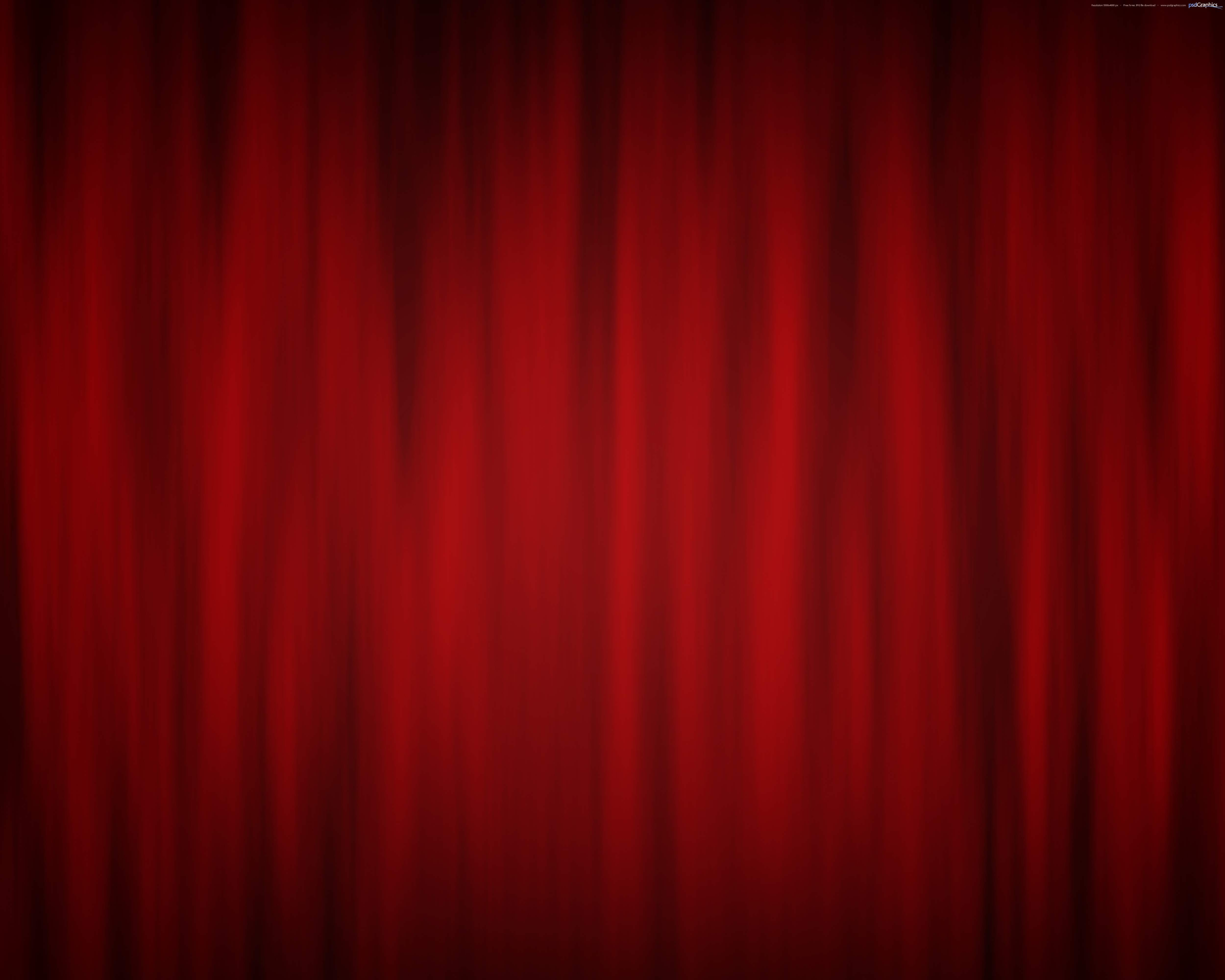 Red Curtain Theatre Stage Psdgraphics