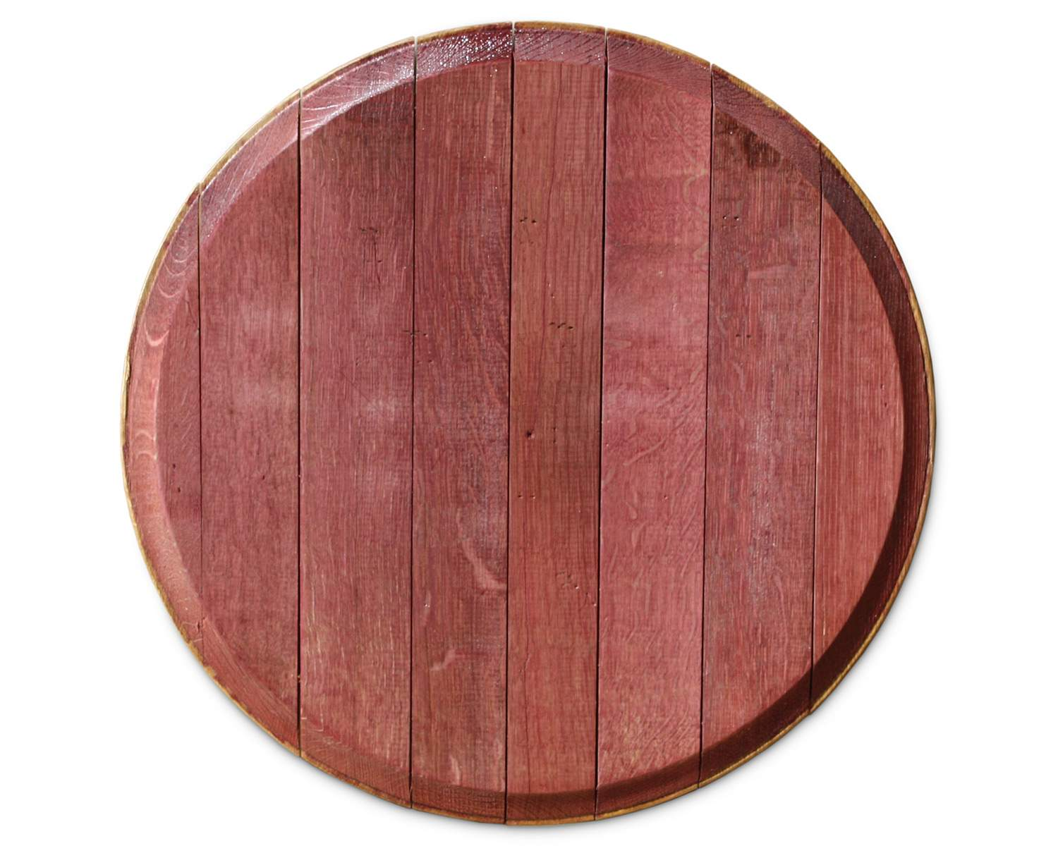 Red Wine Barrel Lazy Susan Stained Reclaimed Barrels Wood