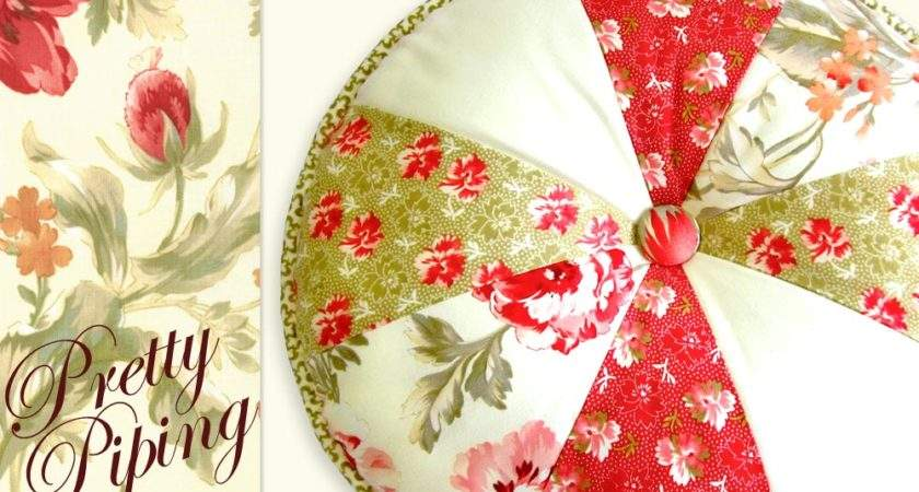 Rose Pretty Piped Pillow Round Sew Home