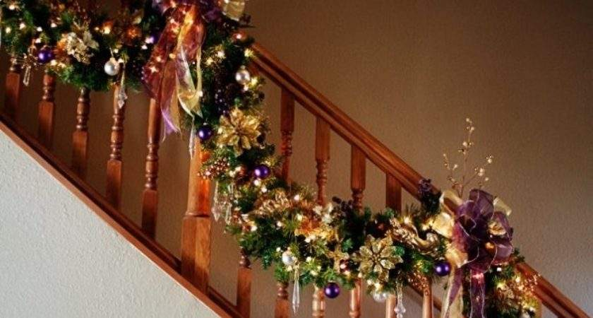 Spectacular Stair Garland Unique Colors Purple Gold Don