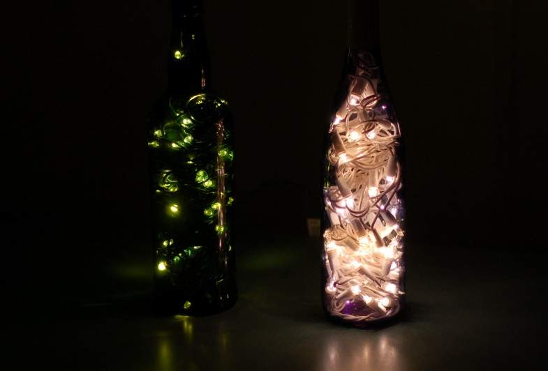 Them Into Some Ambient Lighting Wine Bottle Tinkering