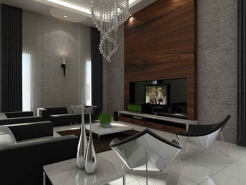 Wall Ideas Home Interior Cool Feature Living Room
