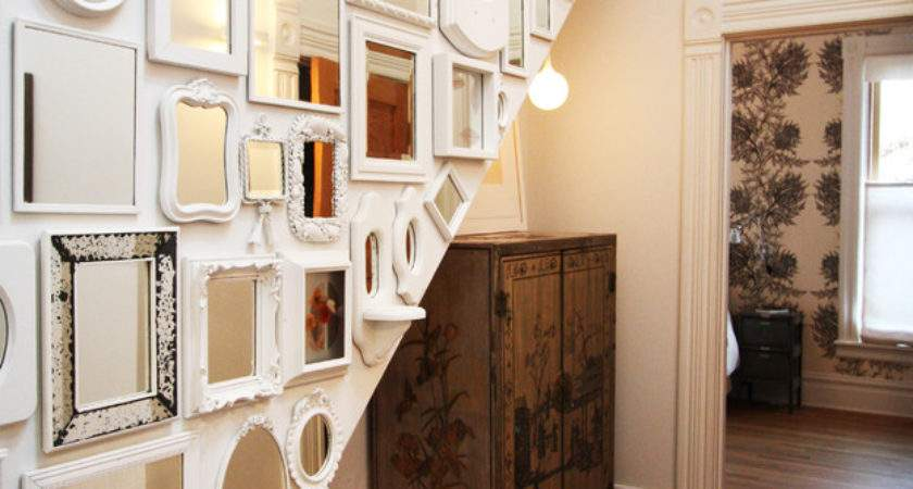 Wall Mirrors Decorating Ideas Hall Eclectic Design