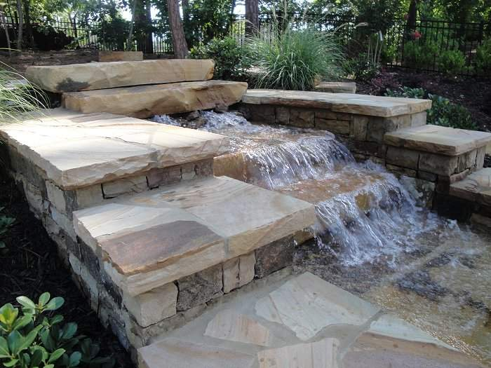 Waterfall Swimming Pool Water Features Designs