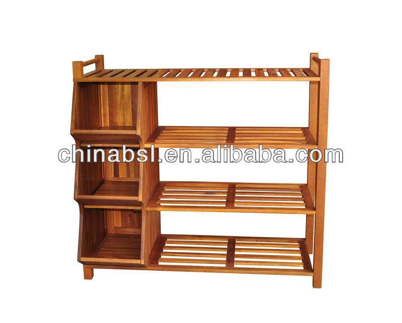 Wooden Shoe Rack Cabinet Product