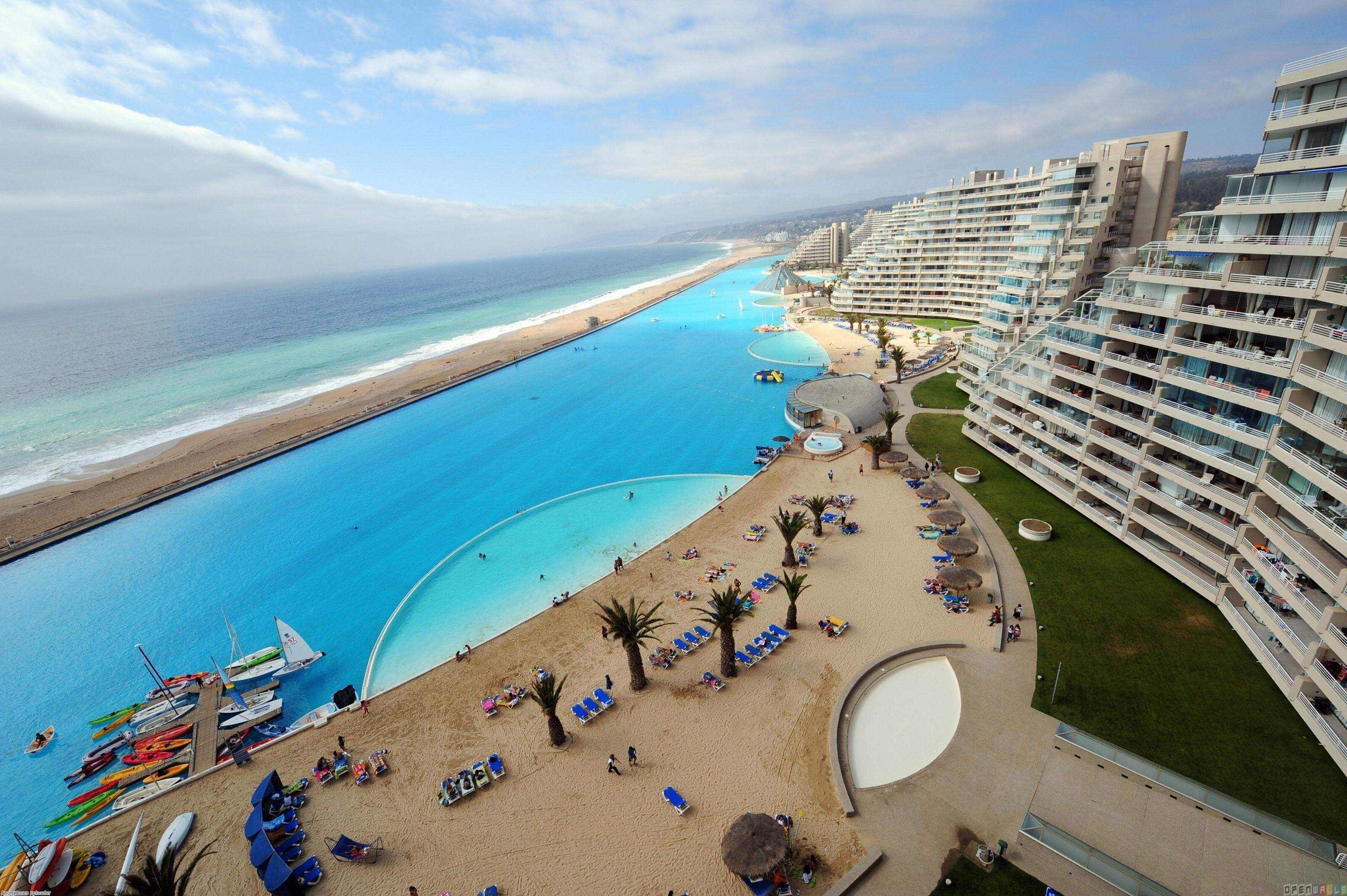 World Largest Outdoor Swimming Pool Open